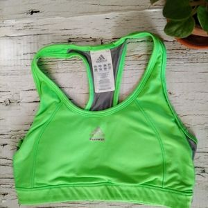 ⭐Adidas Green and Grey Racerback Sports Bra SZ M